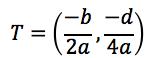 Formel for toppunkt